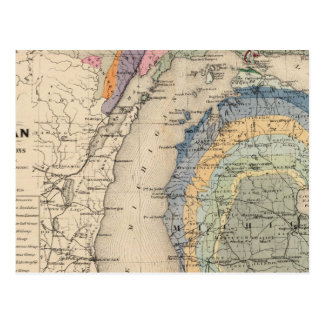 Map of the State of Michigan Postcard