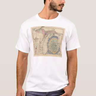 Map of the State of Michigan T-Shirt