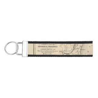 Map of the State of Michigan Wrist Keychain
