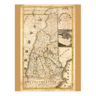 Map of the State of New Hampshire (1817) Postcard