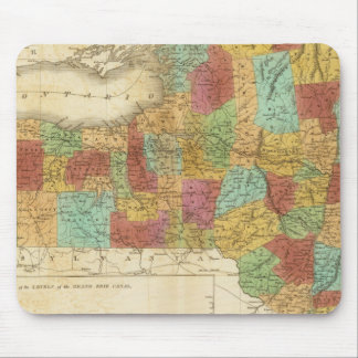Map Of The State Of New York Mouse Pad