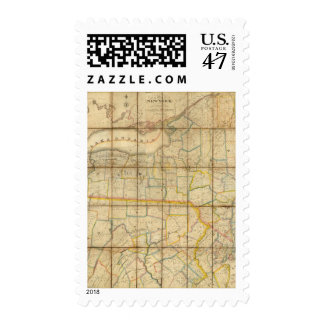 Map of the State of New York Postage