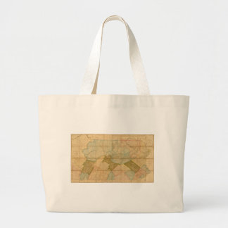 Map of the State of Pennsylvania in 1792 Canvas Bags