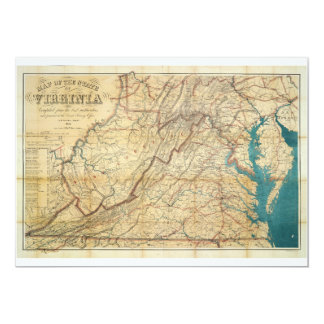 Map of the State of Virginia (1862) Card