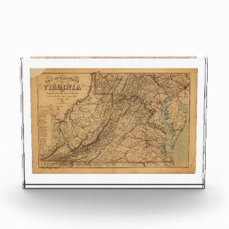 Map of the State of Virginia (1865) Acrylic Award