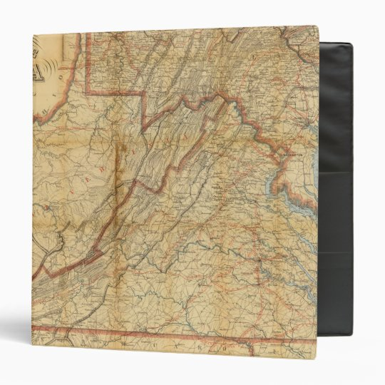 Map of the state of Virginia Binder