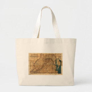 Map of the State of Virginia by Nicholson (1862) Large Tote Bag