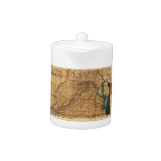 Map of the State of Virginia by Nicholson (1862) Teapot
