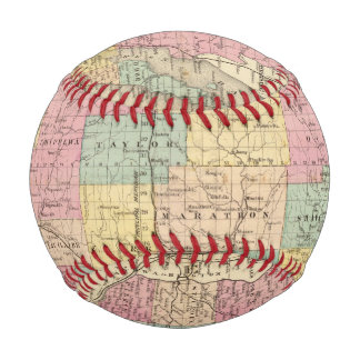 Map of the State of Wisconsin Baseball