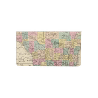 Map of the State of Wisconsin Checkbook Cover