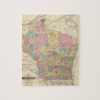 Map of the State of Wisconsin Jigsaw Puzzle