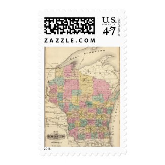 Map of the State of Wisconsin Postage
