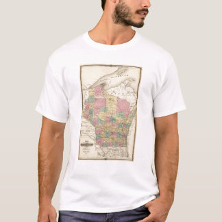 Map of the State of Wisconsin T-Shirt