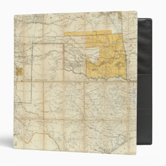 Map Of The States Of Kansas And Texas Vinyl Binder