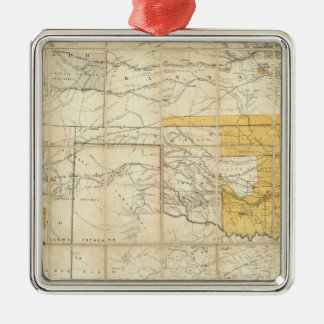 Map Of The States Of Kansas And Texas Metal Ornament