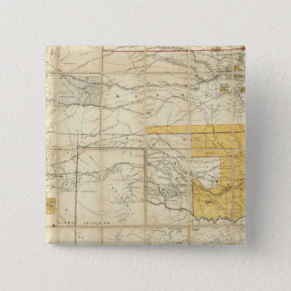 Map Of The States Of Kansas And Texas Pinback Button