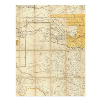 Map Of The States Of Kansas And Texas Postcard