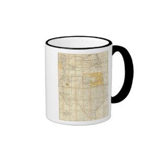 Map Of The States Of Kansas And Texas Ringer Mug