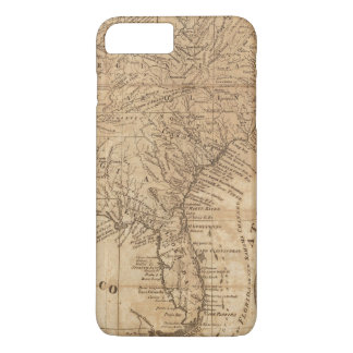 Map of the States of Virginia and North Carolina iPhone 8 Plus/7 Plus Case
