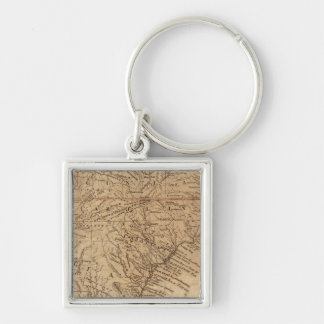 Map of the States of Virginia and North Carolina Key Chains
