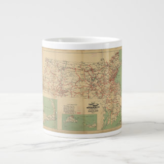 Map of the Street Railways of Massachusetts 1913 20 Oz Large Ceramic Coffee Mug