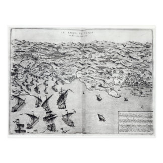 Map of the Taking of Tunis Postcard