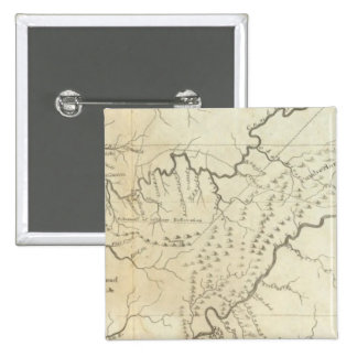Map of The Tennassee sic Government 2 Inch Square Button