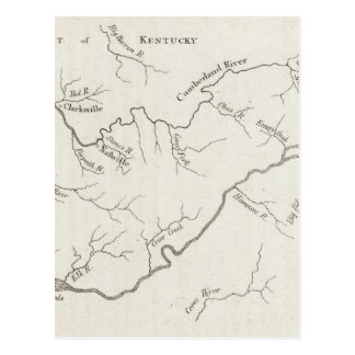 Map of the Tennessee Government Postcard