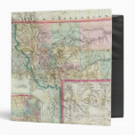 Map Of The Territory Of Montana 3 Ring Binder