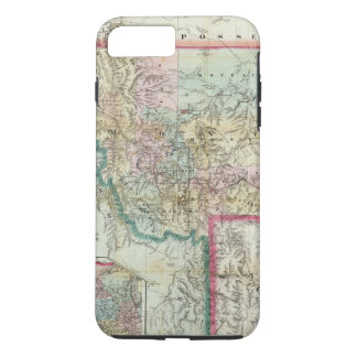 Map Of The Territory Of Montana iPhone 8 Plus/7 Plus Case