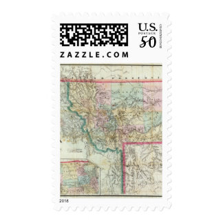 Map Of The Territory Of Montana Postage