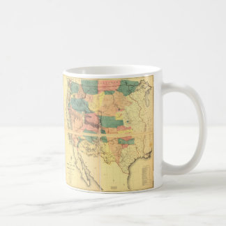 Map of the Territory of the United States (1858) Coffee Mug