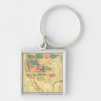 Map of the Territory of the United States (1858) Keychain