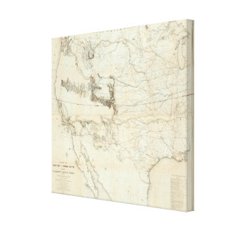 Map Of The Territory Of The United States 2 Stretched Canvas Prints