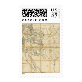 Map Of The Territory Of The United States 2 Postage