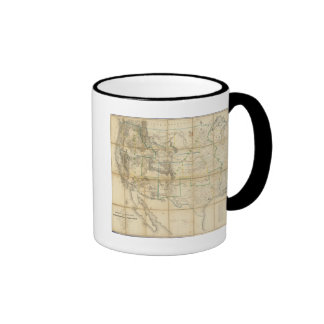 Map Of The Territory Of The United States 2 Coffee Mugs