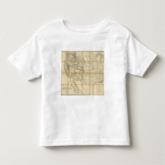 Map Of The Territory Of The United States 2 Toddler T-shirt