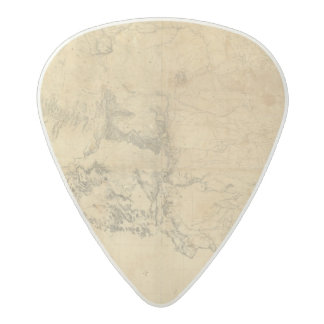 Map of The Territory of The United States Acetal Guitar Pick