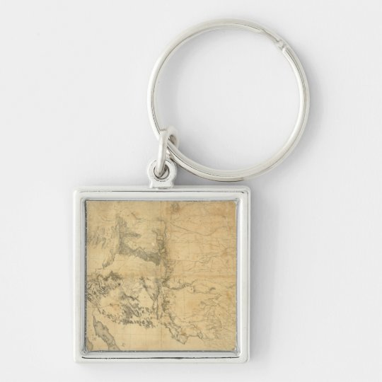 Map of The Territory of The United States Keychain