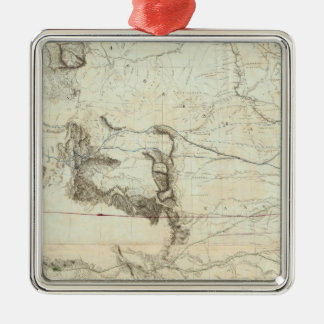 Map Of The Territory Of The United States Metal Ornament