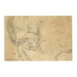 Map of The Territory of The United States Placemat