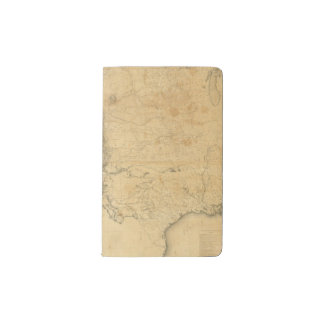 Map of The Territory of The United States Pocket Moleskine Notebook