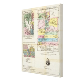 Map of the Territory of Utah Canvas Prints