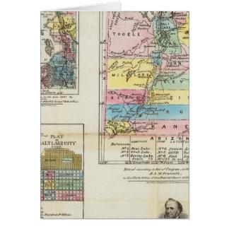 Map of the Territory of Utah Card