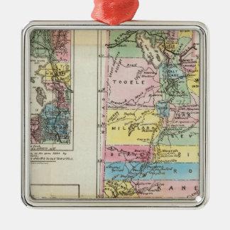 Map of the Territory of Utah Christmas Tree Ornaments