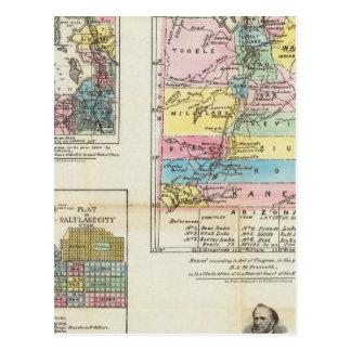 Map of the Territory of Utah Post Cards