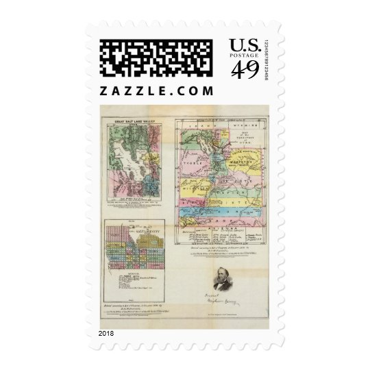 Map of the Territory of Utah Postage