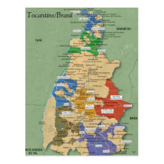 Map of the Tocantins Postcard