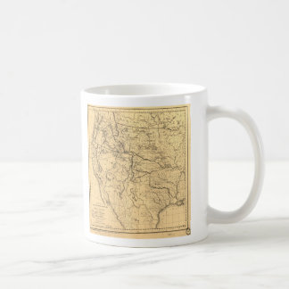 Map of the Trans-Mississippi Between 1807 and 1843 Coffee Mug