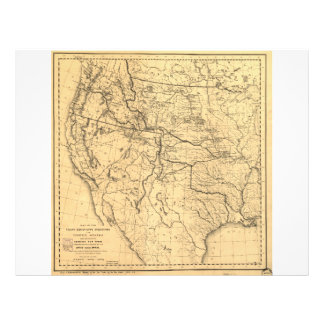 Map of the Trans-Mississippi Between 1807 and 1843 Letterhead